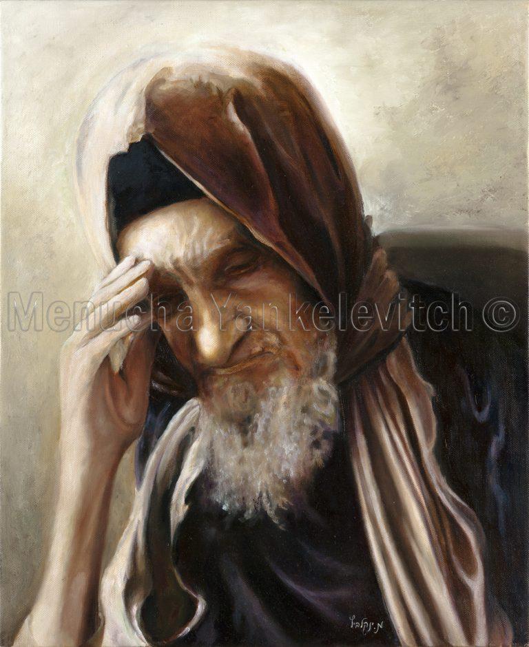 Baba Sally בבא סאלי ציור שמן