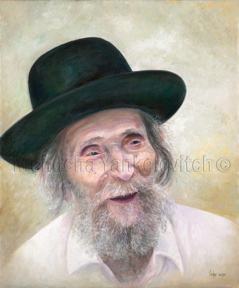 Harav Staiman הרב שטיינמן ציור שמן